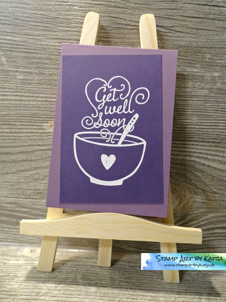 Stampin' Up! Get Well Soup - weiß embosst