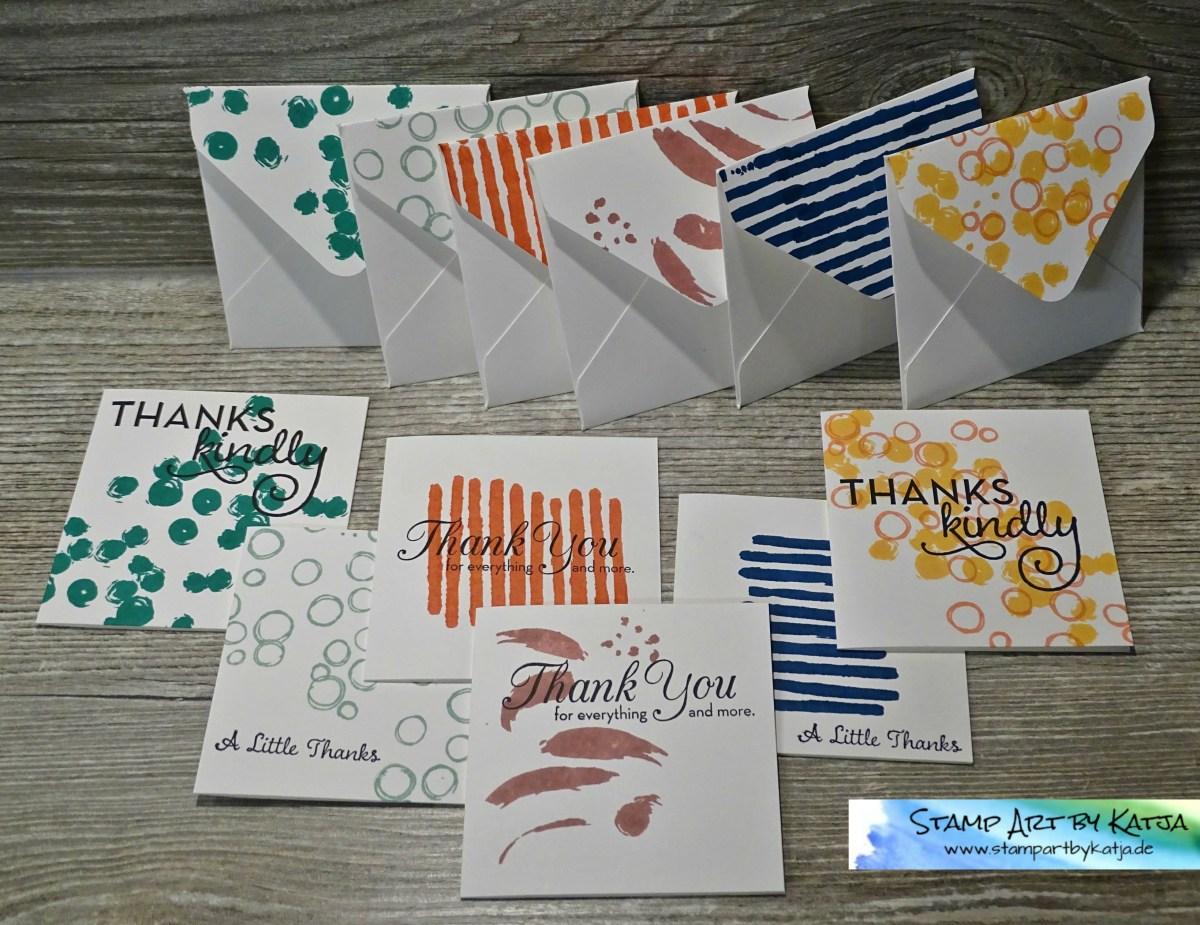 Dankeskarten-Set im Miniformat inkl. der passenden Umschläge