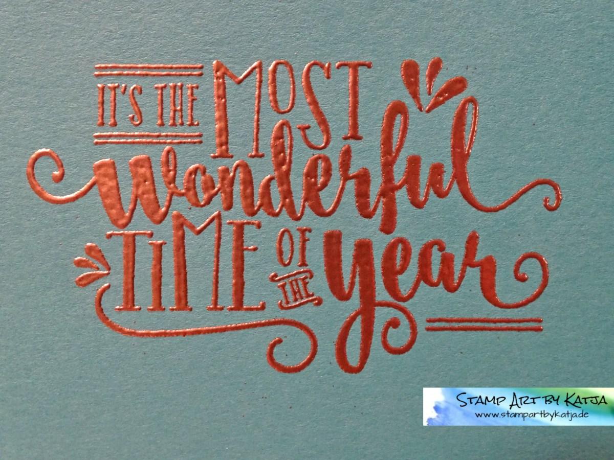 Weihnachtskarte mit Wonderful Year