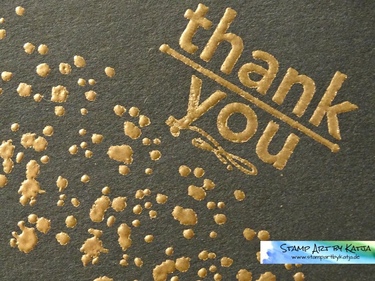 Bronzene Dankeskarte