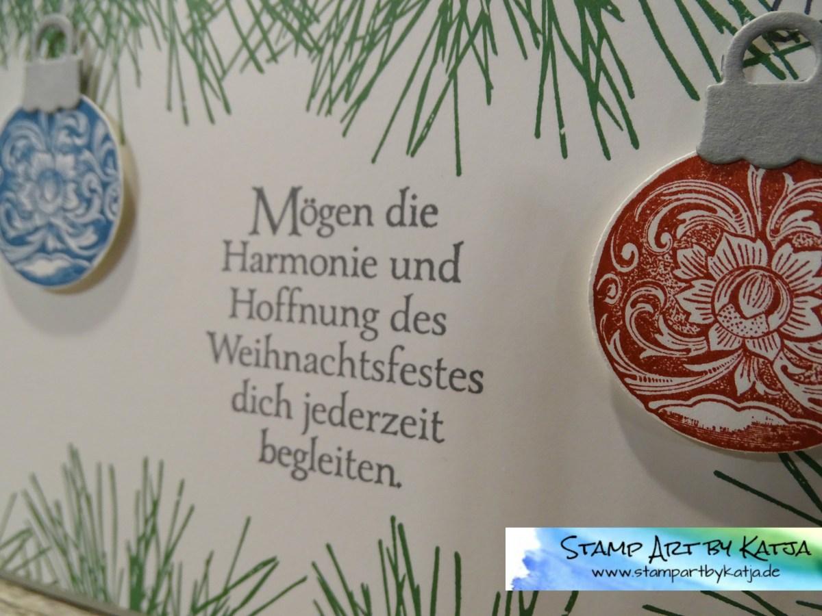 """elegante Weihnachtskarten mit dem Stempelset """"Klassische Weihnacht"""""""