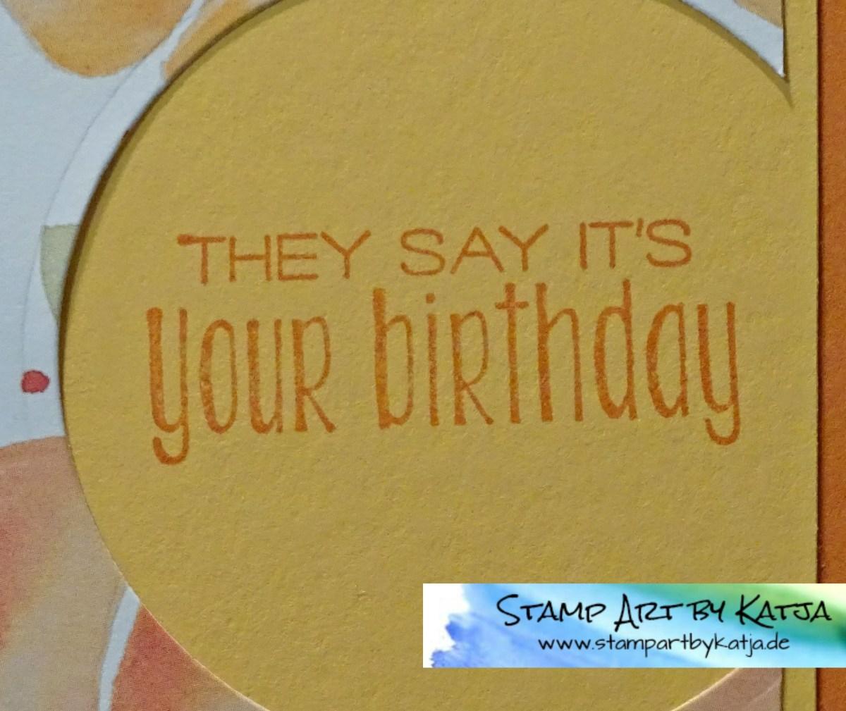 Geburtstagskarte mit DSP Obstgarten