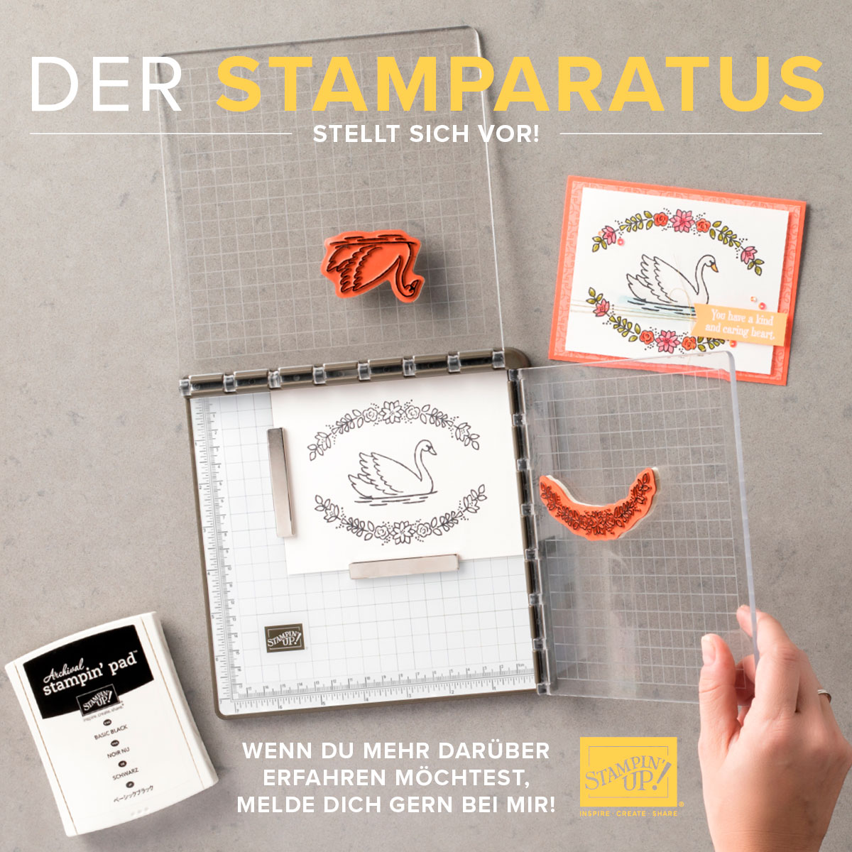 Stamparatus – Die neue Stempel-Positionierhilfe