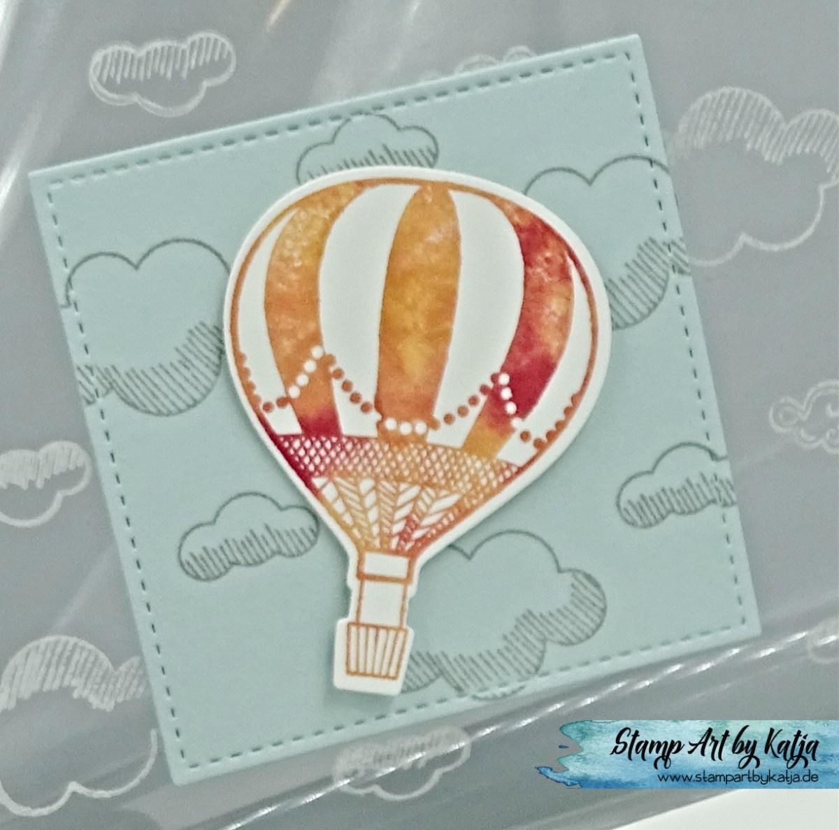 Acetat Card mit wolkigen Aussichten