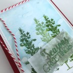 DISTRESSED GLUE CHRISTMAS CARD