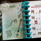 JOYFUL NOISE, EMBOSSING IN MY PLANNER