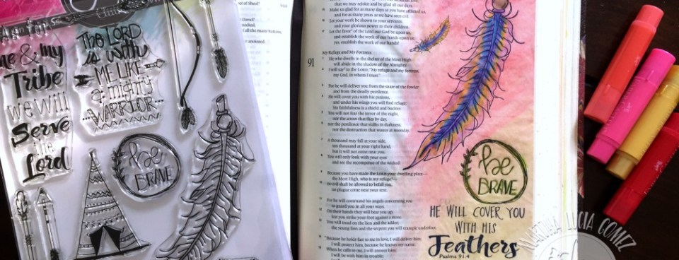 BE BRAVE BIBLE JOURNALING PAGE WITH GELATOS