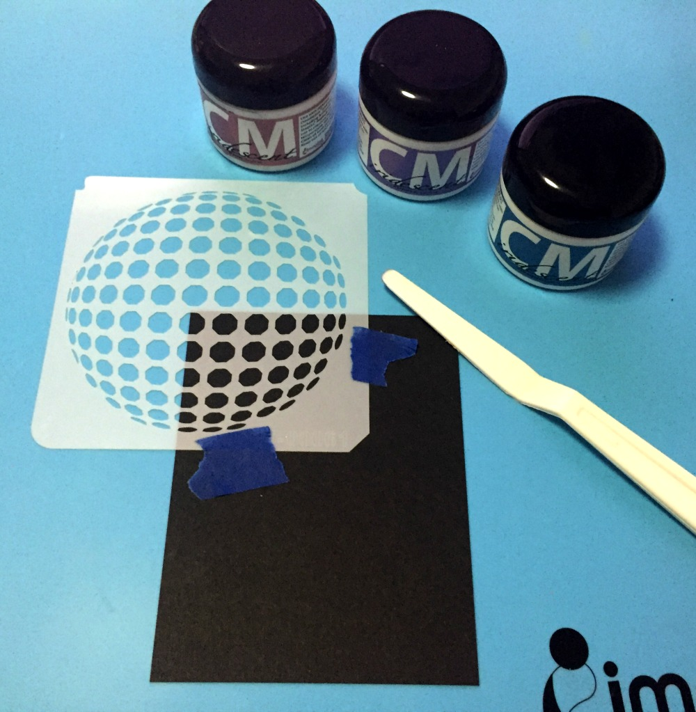 STENCILING WITH CREATIVE MEDIUM