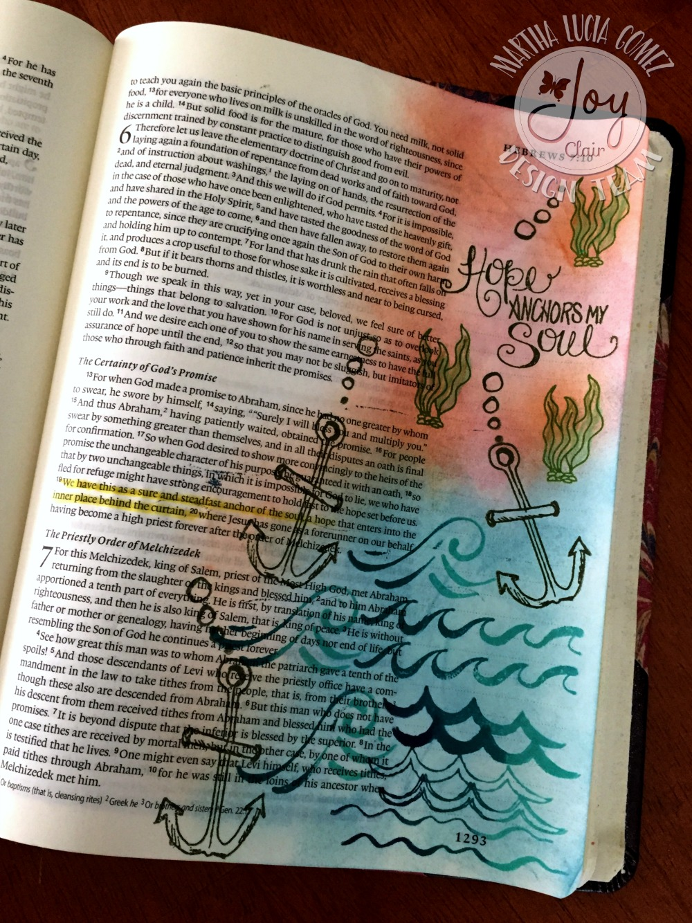 ANCHOR OF HOPE: COLOR BY FAITH STAMP SET