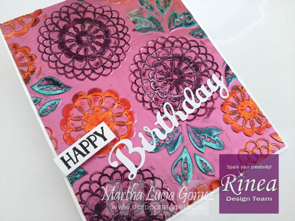 INK COLORING WITH RINEA FOIL PAPER