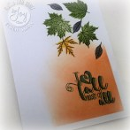 One Layer Card Fall Leaves