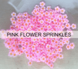 Pink Flower Sprinkles