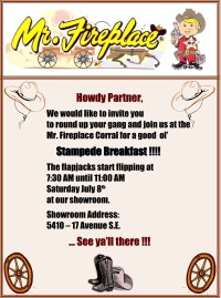 Mr. Fireplace Stampede Breakfast | Stampede Breakfast 2018