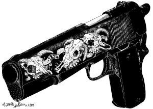 Colt 45 Woodcut