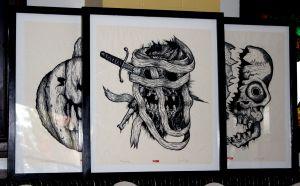 3 framed Heads