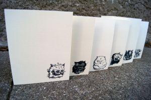 Diseased Cat Greeting Cards