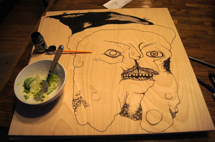 Cleft Palate Witch Woodblock