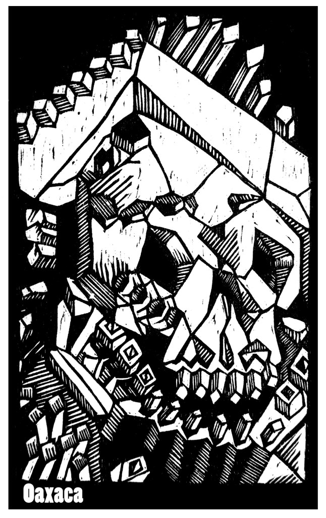 Kingdom of the Crystal Skull Woodcut by John Beckmann of stampede press