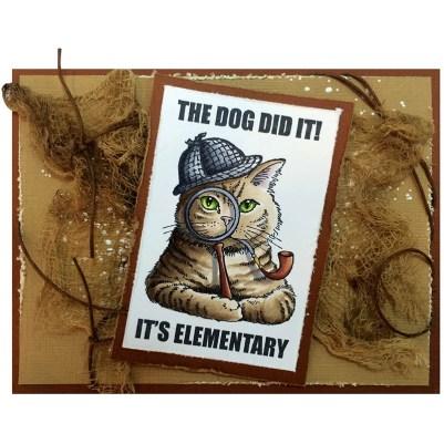 Sherlock Cat by Jennifer Dove