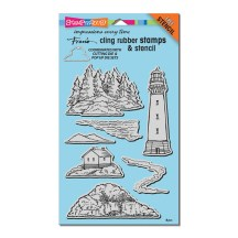 CRS5098 Build A Lighthouse Cling Stamp Set