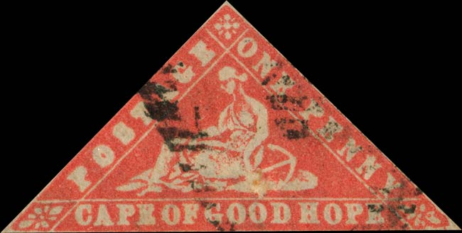 Forged Stamps of Cape of Good Hope  1d Triangle