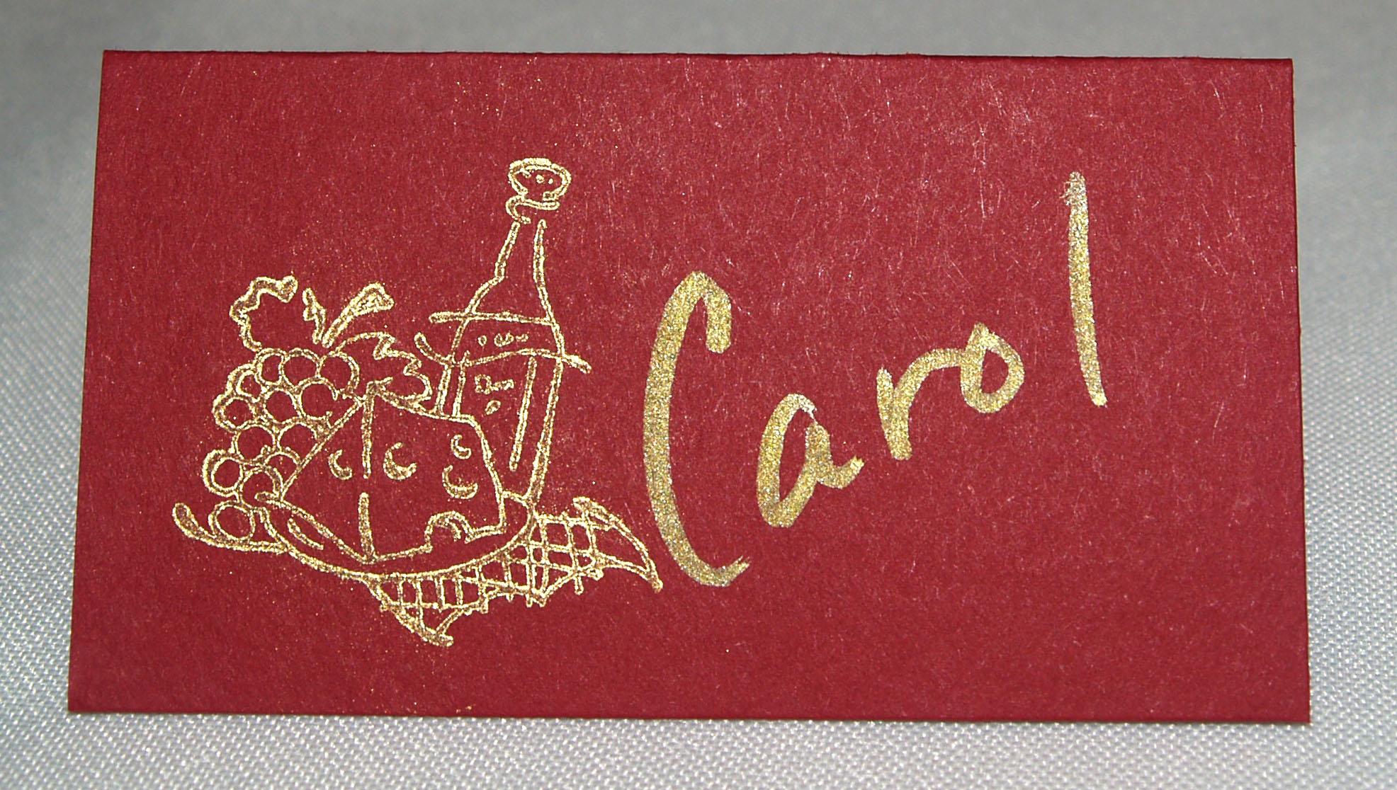 Voila place card