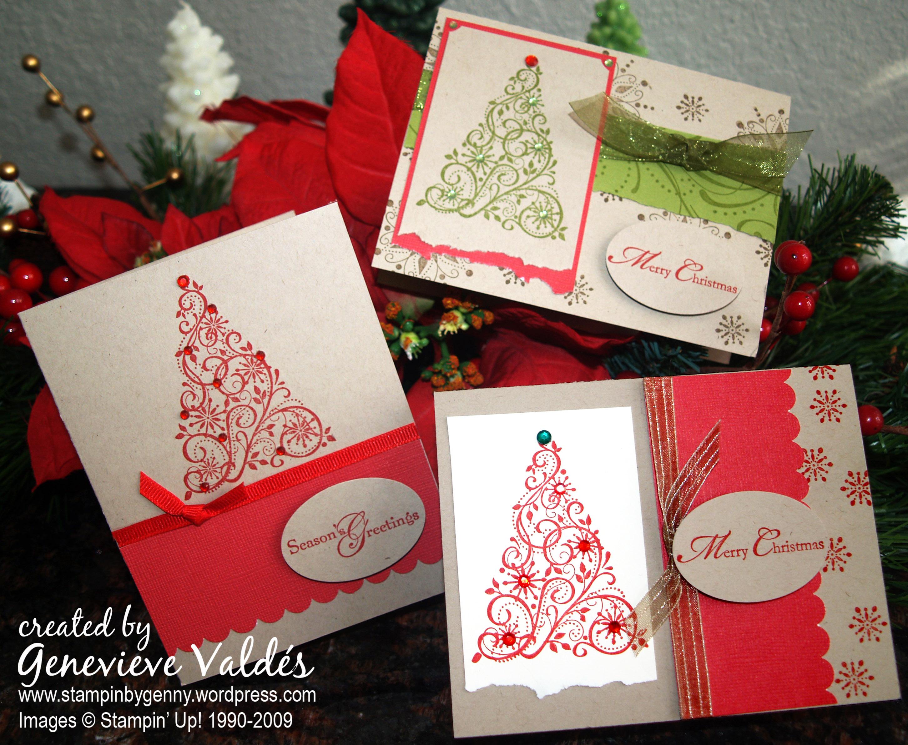 Snow Swirld Christmas cards