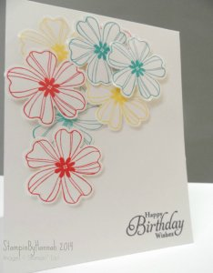 Stampin Up! Flower shop