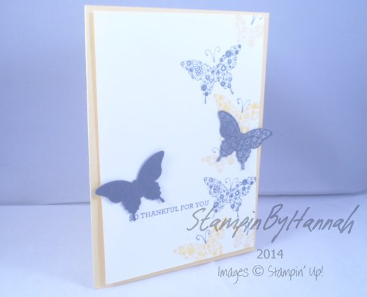 Stampin' Up! UK Papillion Potpourri I like you