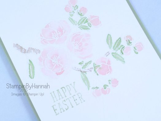 Stampin' Up! UK Easter Indescribable Gift Fantasy Stampers Challenge Watercolour