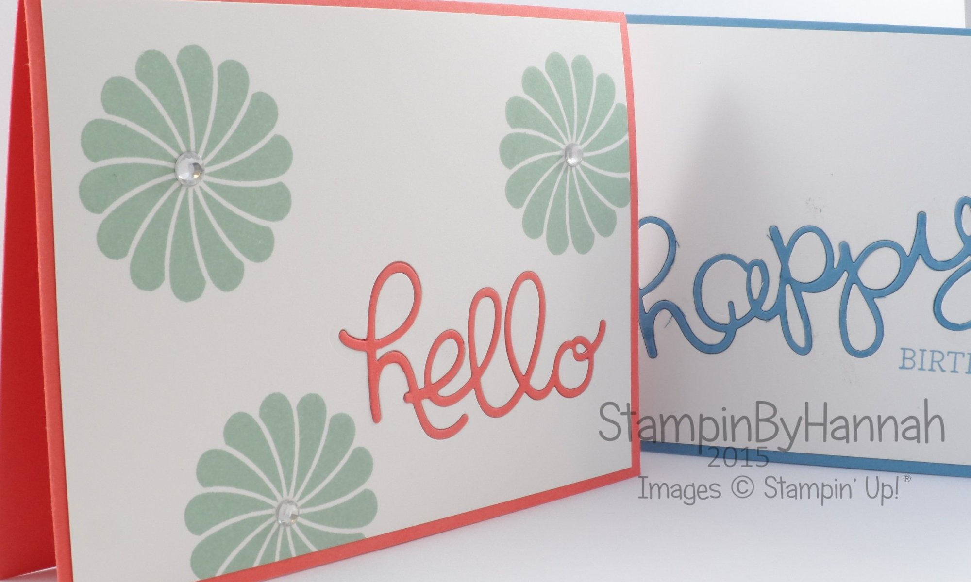 Stampin' Up! UK Crazy about you Hello You diecutting