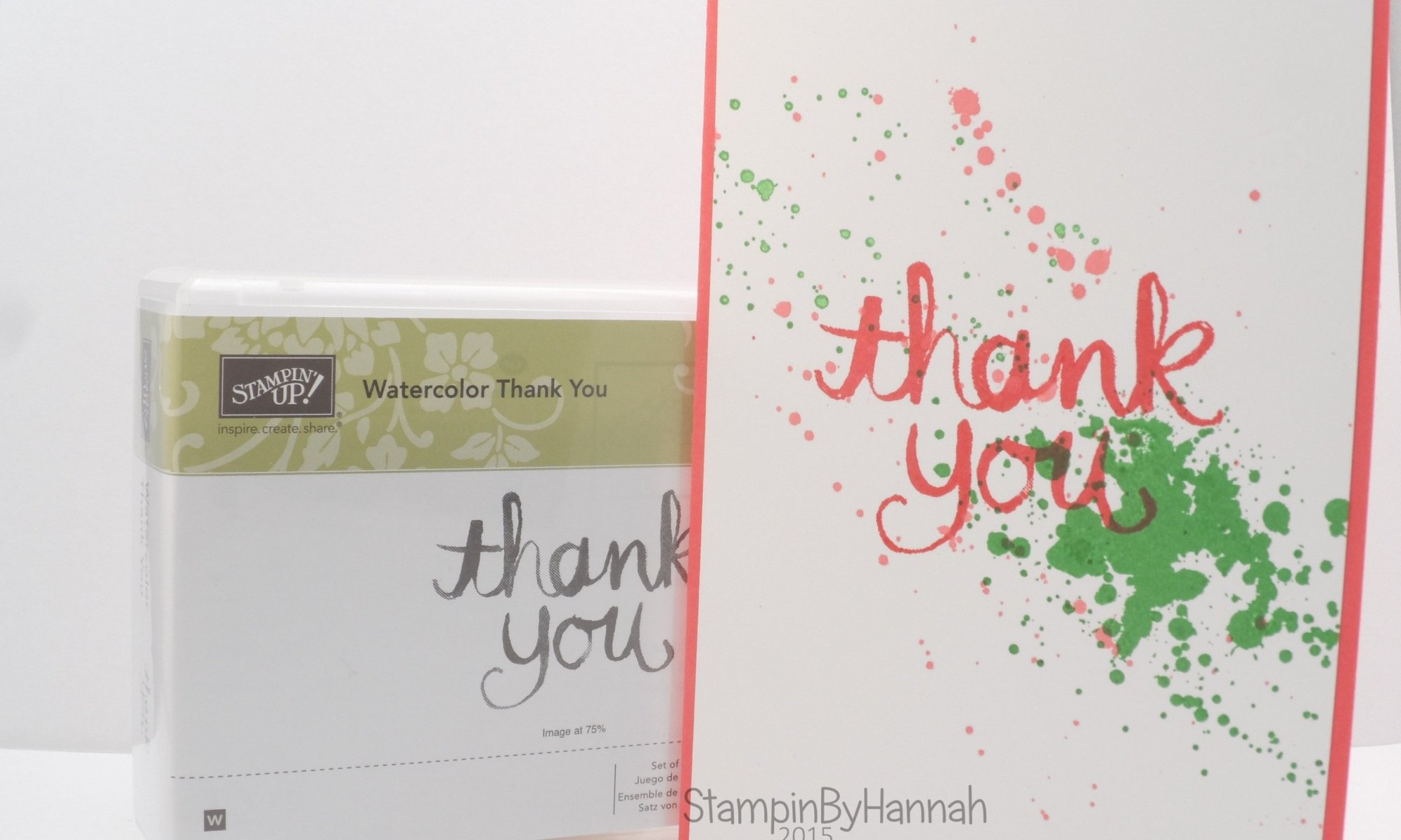 Stampin' Up! UK Ink Splatter Gorgeous Grunge Watercolour Thank you