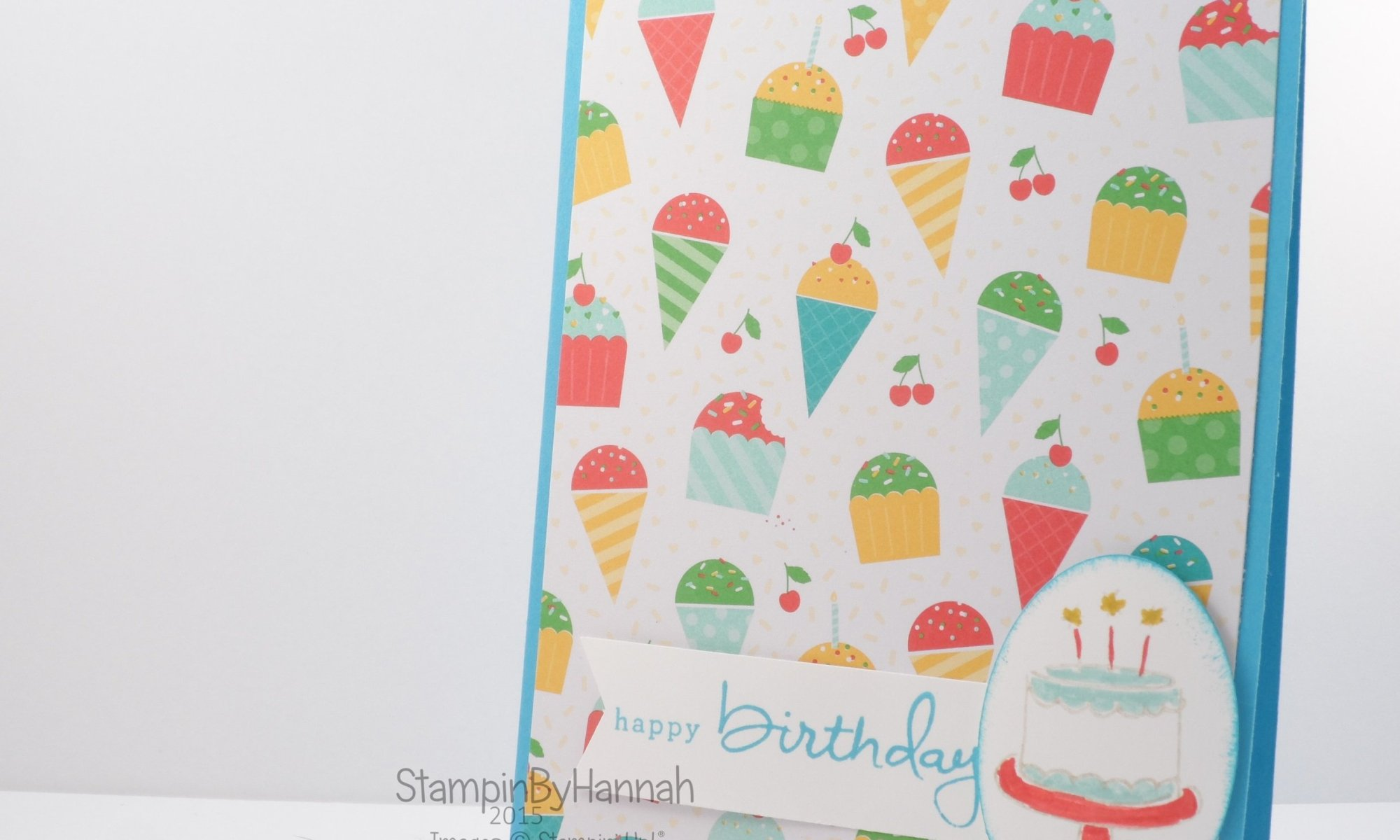 Stampin' Up! UK Cherry on Top Endless Birthday Wishes Birthday card
