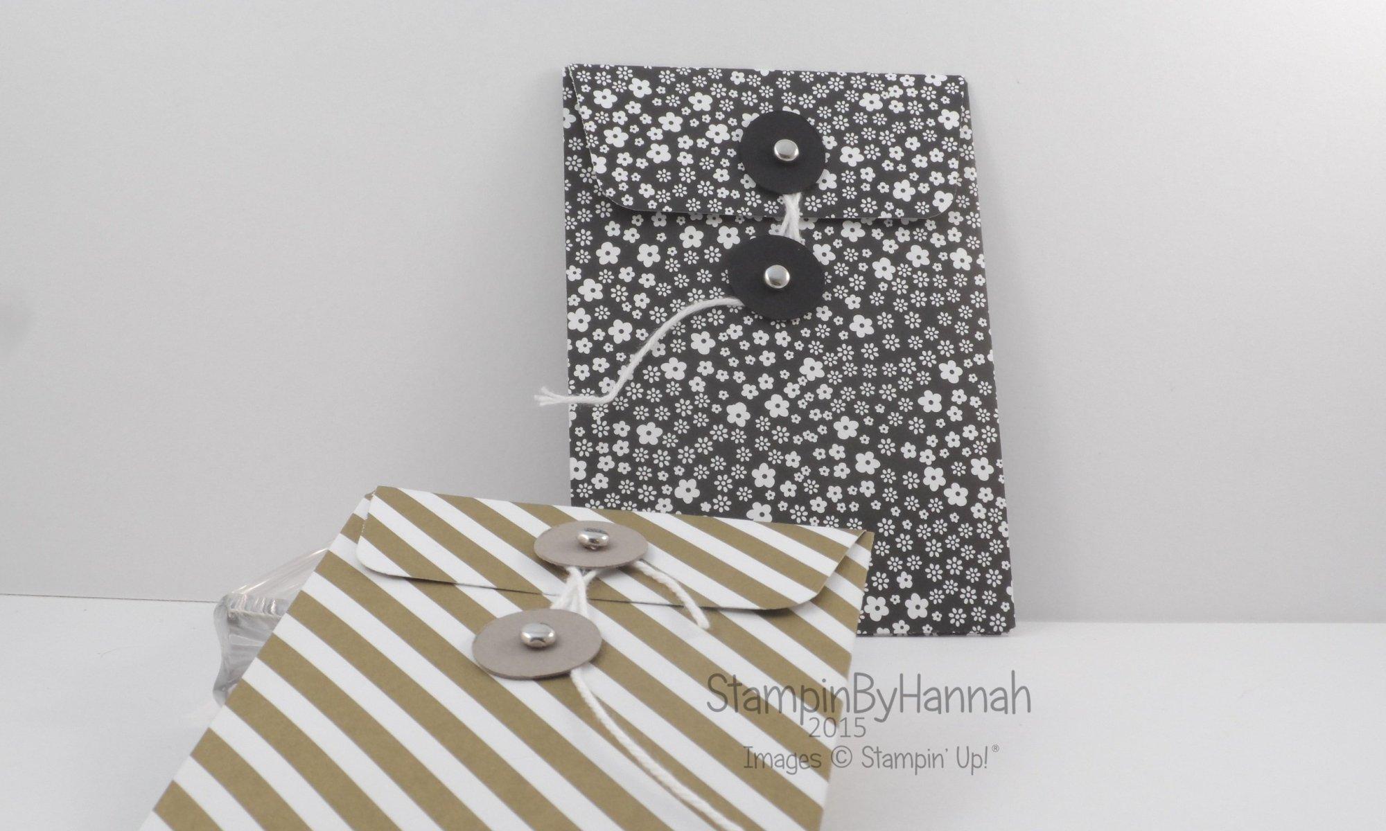 Stampin' Up! UK Gift Bag Punch Board Coin wallet