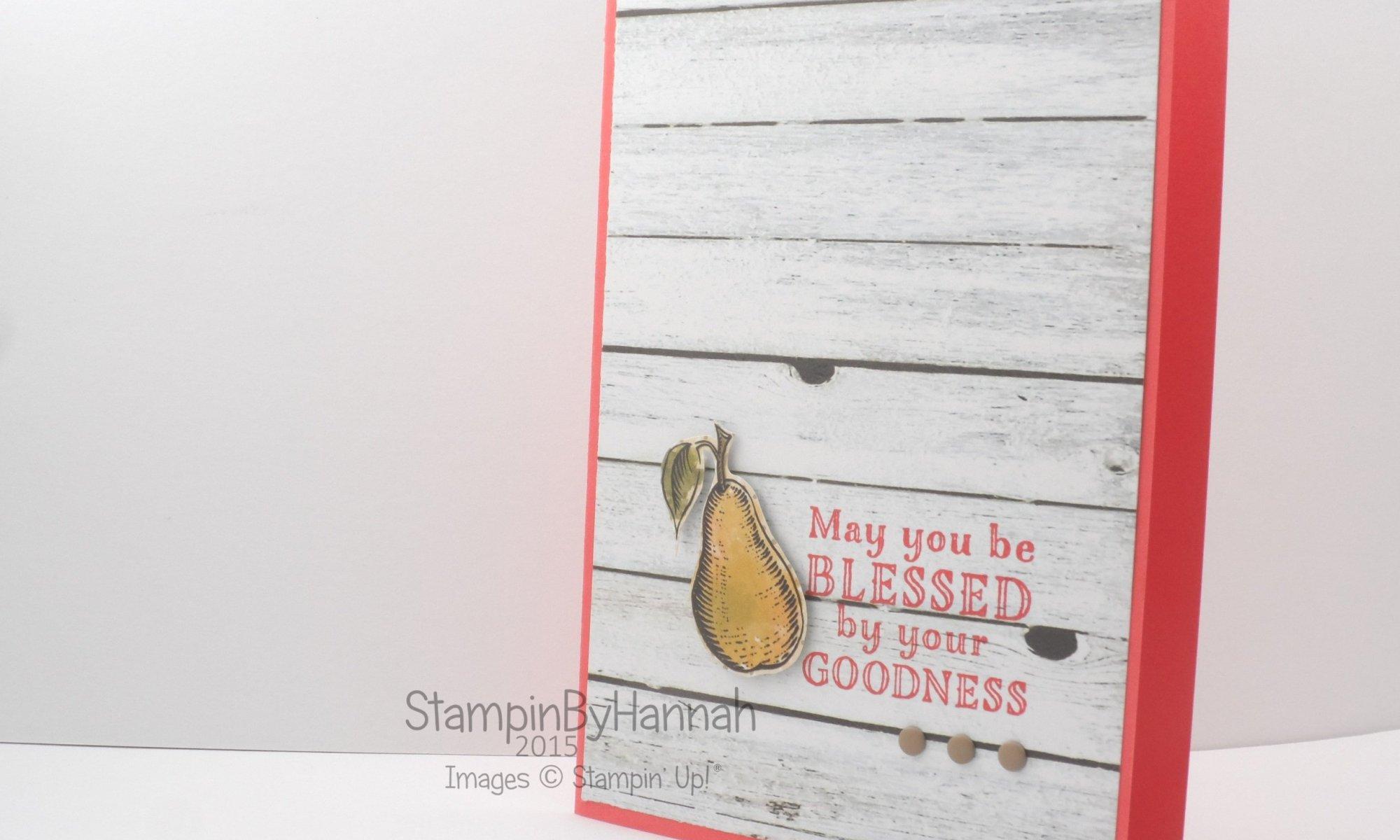 Stampin' Up! UK Me = Grateful Market Fresh