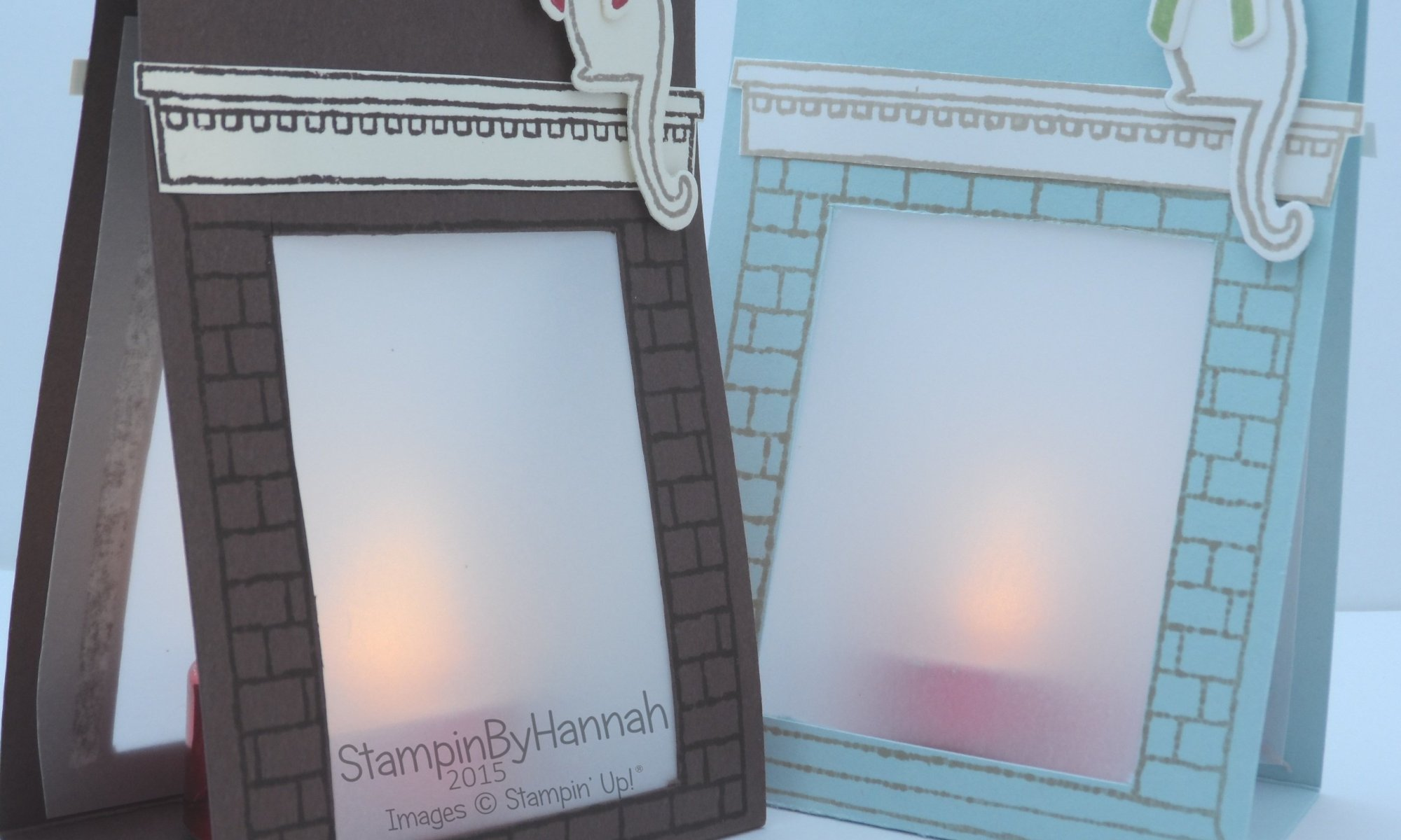 Stampin' Up! UK Festive Fireplace Tealights