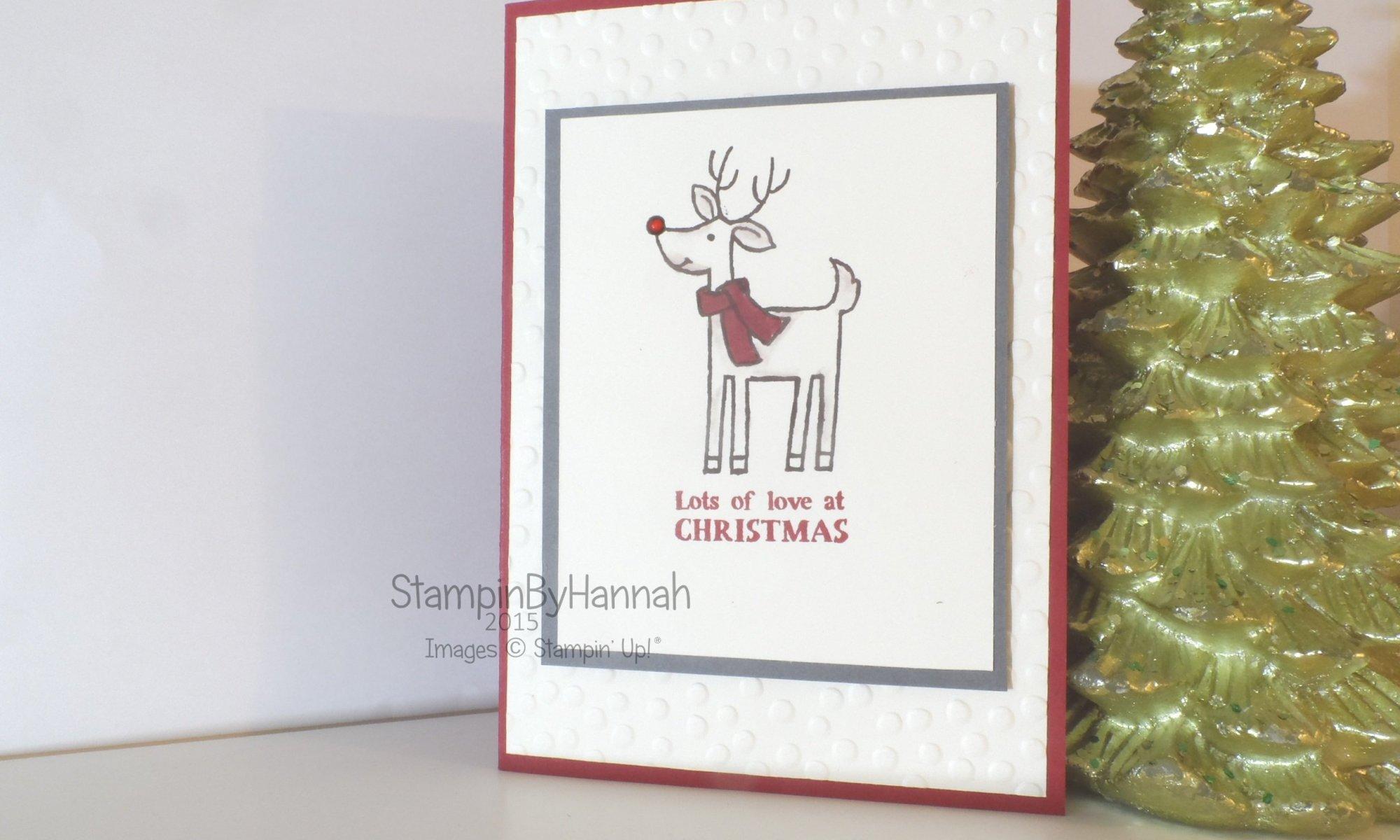 Stampin' Up! UK Santa's gifts mass produced christmas card video tutorial