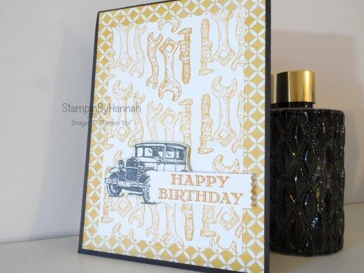Stampin' Up! UK Guy Greetings mens birthday card