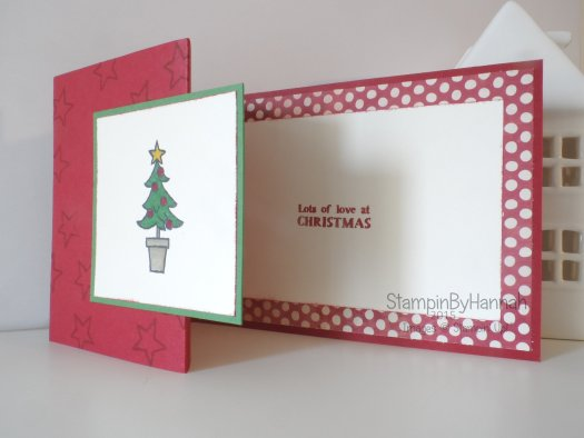 Stampin' Up! UK Fancy fold Christmas card