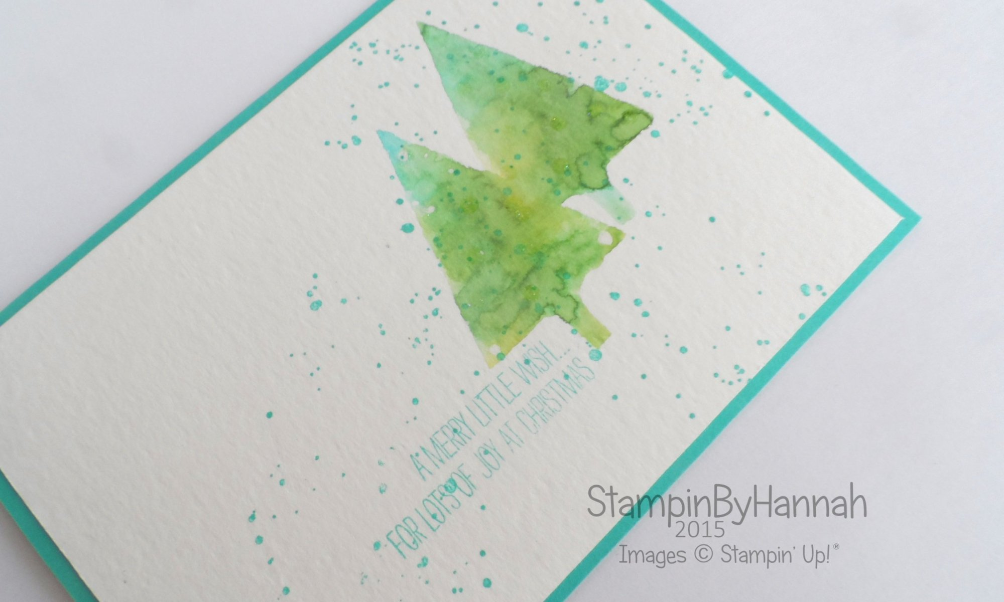 Stampin' Up! UK Festival of Trees Watercolour