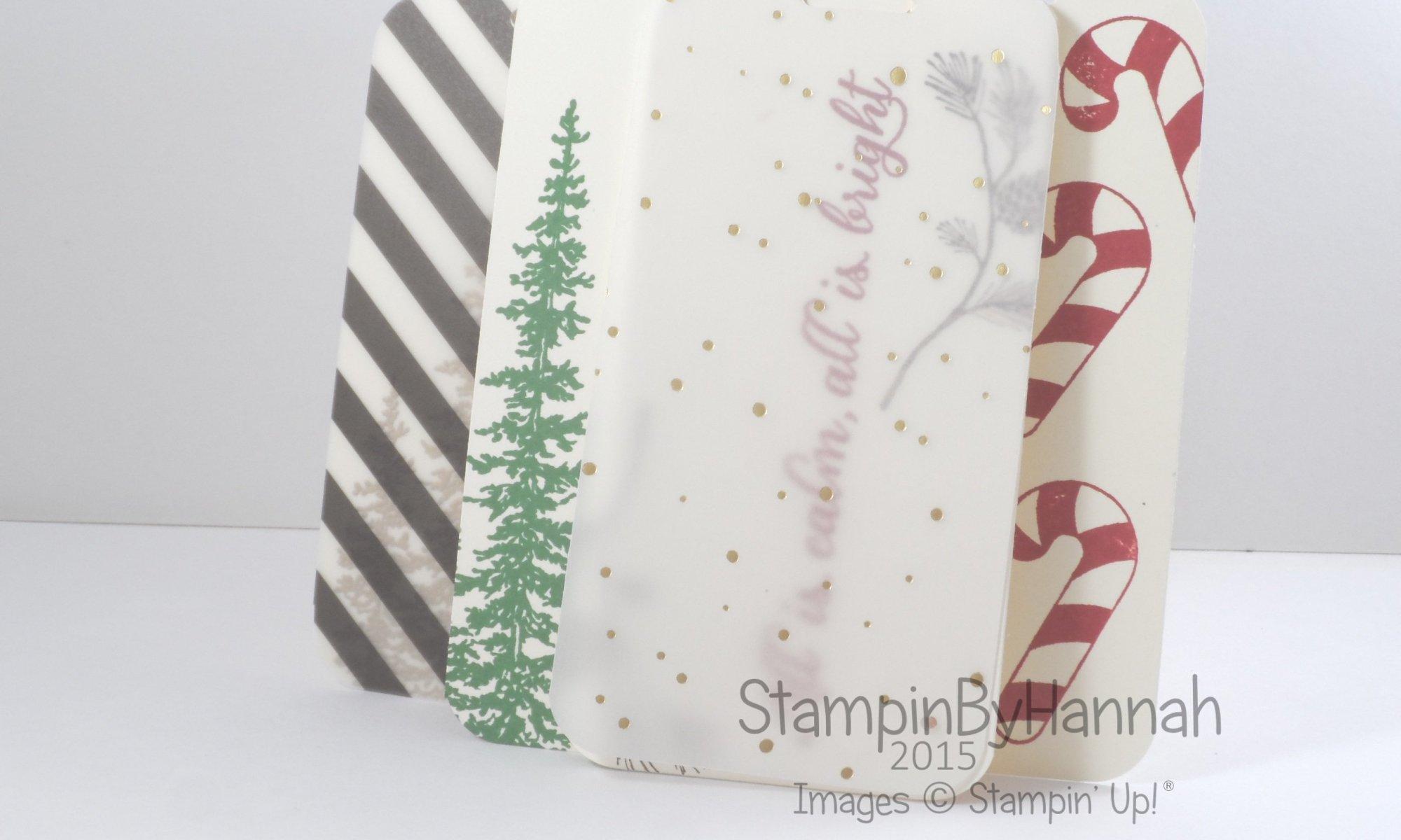 Stampin' Up! UK Quick Christmas tags