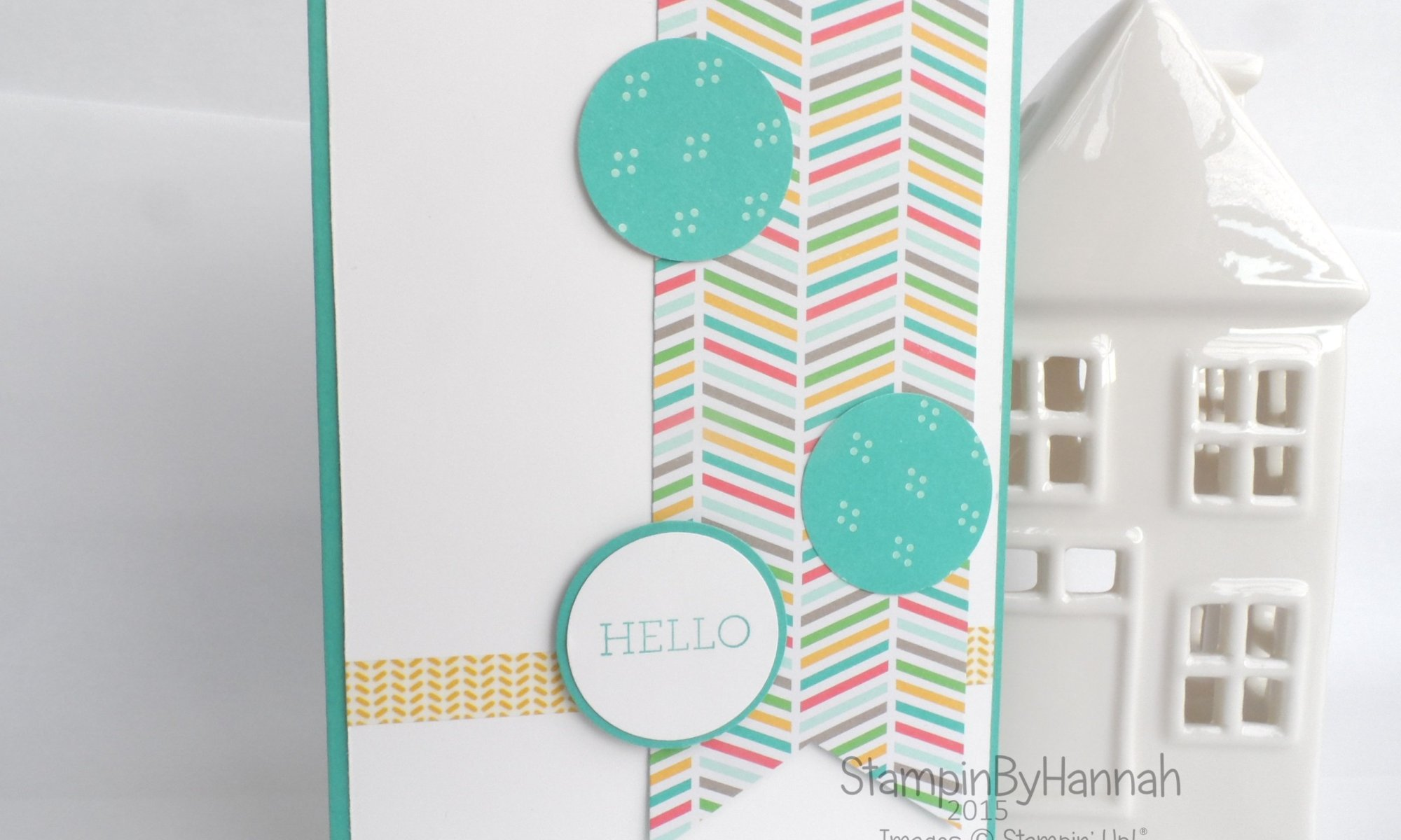 Stampin' Up! Uk Sketch Challenge Hello Card Cherry on Top