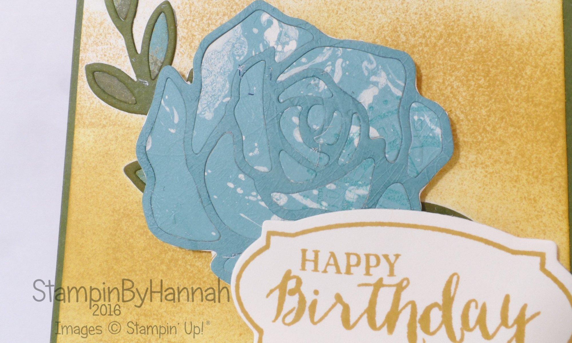 Stampin' Up! UK Rose wonder birthday card