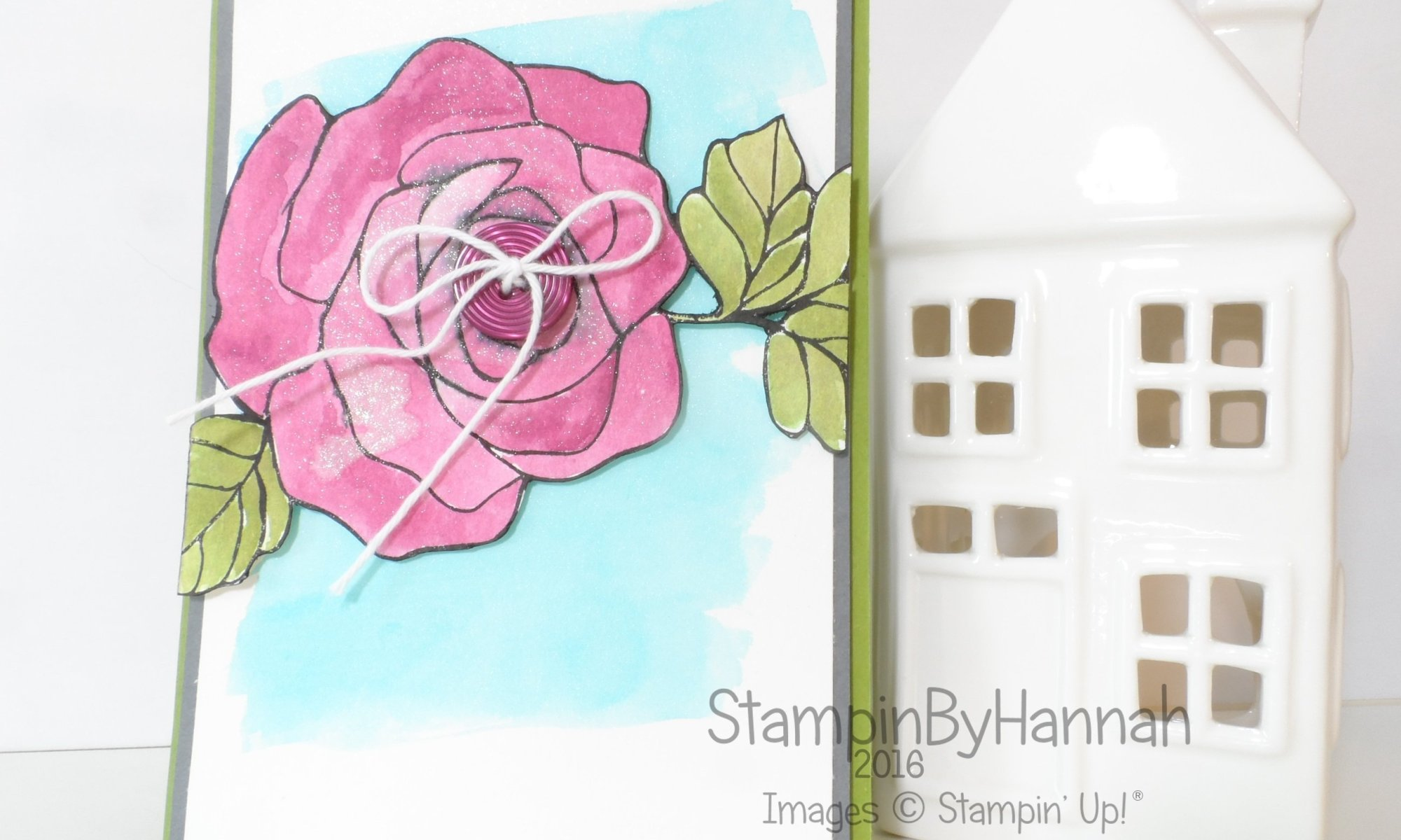 Stampin' Up! UK Rose Wonder Shimmer wink of stella