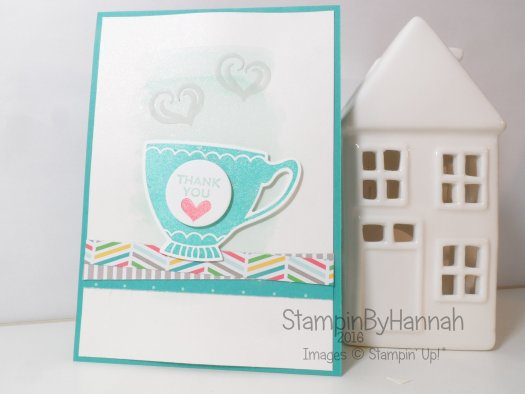 Stampin' Up! Uk A Nice Cuppa Thank you card cherry on top