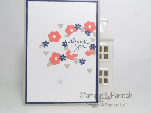 Global Design Project Colour Challenge using Endless Thanks from Stampin' Up! UK