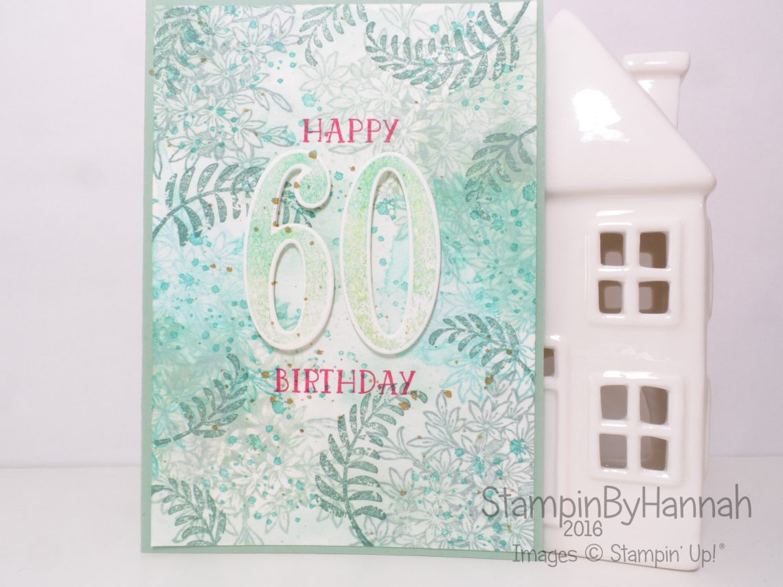 Stampin' Up! UK Stamp Layering Birthday Card