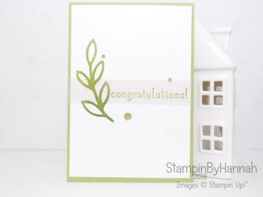 Stampin' Up! UK Rose Garden Congratulations Card