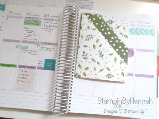 Diagonal Double Pocket Planner Insert Erin Condren Planner using Stampin' Up! UK Designer Series Paper