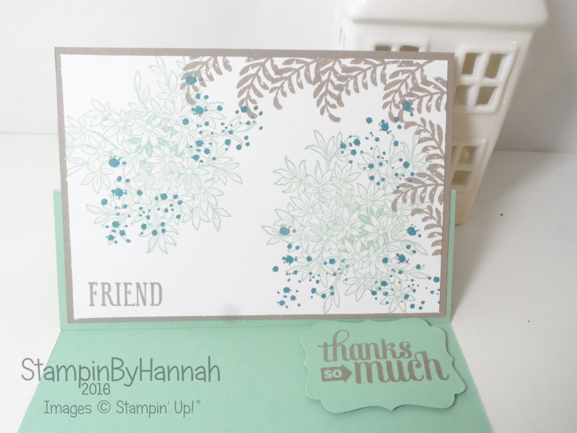 Fancy Fold Friday Easel Card Video Tutorial using Stampin' Up! UK products